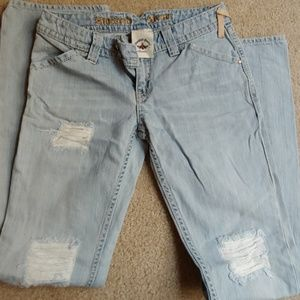 Twisted Heart Distressed Jeans Size 28 EUC